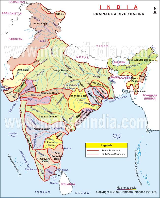 indian river system map Drainage System Part 3 Civilsdaily indian river system map