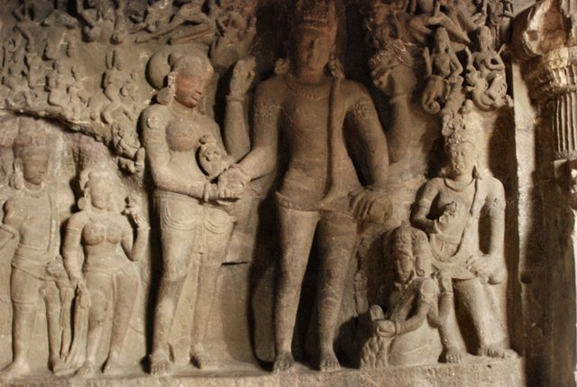 Image result for ellora shiv parvati wedding